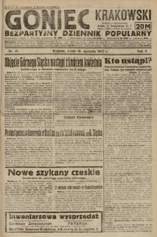 Goniec Krakowski : bezpartyjny dziennik popularny. 1922, nr18