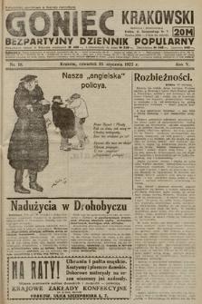 Goniec Krakowski : bezpartyjny dziennik popularny. 1922, nr19
