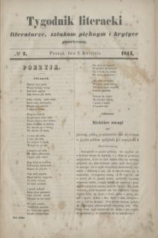 Tygodnik literacki : literaturze, sztukom pięknym i krytyce poświęcony. [R.7], № 2 (8 kwietnia 1844)