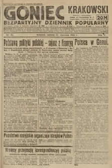 Goniec Krakowski : bezpartyjny dziennik popularny. 1922, nr21