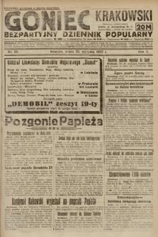 Goniec Krakowski : bezpartyjny dziennik popularny. 1922, nr25