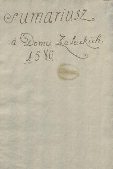Sumariusze akt z lat 1580-1747 dotyczących rodzin Załuskich i Potkańskich, znajdujących się w księgach grodzkich Opoczna i Radomia, spisane w 1752 r.
