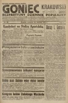 Goniec Krakowski : bezpartyjny dziennik popularny. 1922, nr26