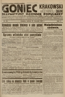 Goniec Krakowski : bezpartyjny dziennik popularny. 1922, nr28