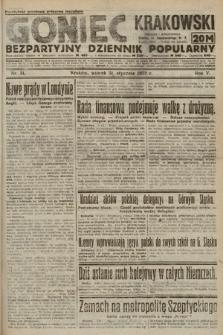 Goniec Krakowski : bezpartyjny dziennik popularny. 1922, nr31