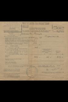 Zahlungsbescheid für staatliche Einkommensteur für das Steuerjahr 1941
