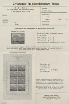 Versandstelle für Sammlermarken Krakau