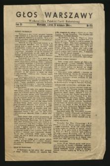 Głos Warszawy : wydawnictwo Polskiej Partii Robotniczej. R.3, nr 172 (19 września 1944)