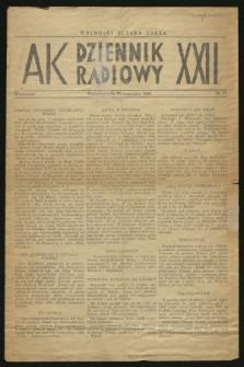 Dziennik Radiowy AK XXII. 1944, nr 57 (25 września)