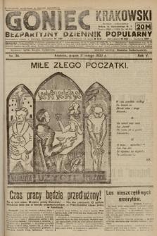 Goniec Krakowski : bezpartyjny dziennik popularny. 1922, nr34
