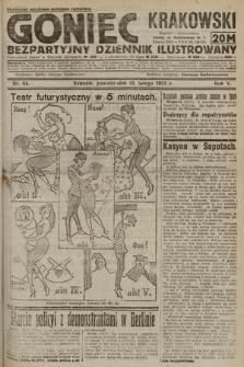 Goniec Krakowski : bezpartyjny dziennik popularny. 1922, nr44