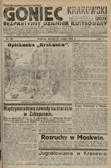 Goniec Krakowski : bezpartyjny dziennik popularny. 1922, nr52