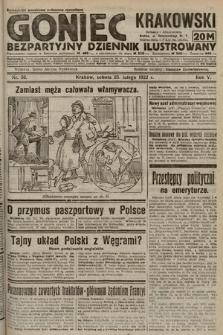 Goniec Krakowski : bezpartyjny dziennik popularny. 1922, nr56