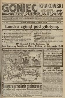 Goniec Krakowski : bezpartyjny dziennik popularny. 1922, nr58