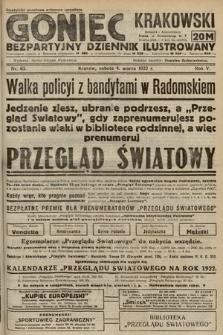 Goniec Krakowski : bezpartyjny dziennik popularny. 1922, nr63
