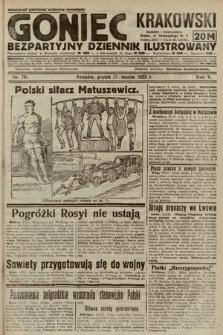 Goniec Krakowski : bezpartyjny dziennik popularny. 1922, nr76