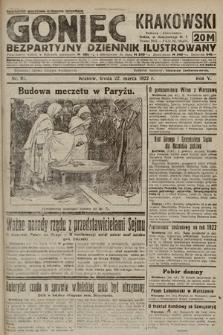 Goniec Krakowski : bezpartyjny dziennik popularny. 1922, nr81