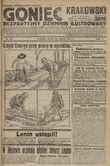 Goniec Krakowski : bezpartyjny dziennik popularny. 1922, nr87