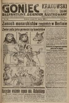 Goniec Krakowski : bezpartyjny dziennik popularny. 1922, nr89