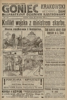 Goniec Krakowski : bezpartyjny dziennik popularny. 1922, nr113