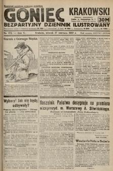 Goniec Krakowski : bezpartyjny dziennik popularny. 1922, nr172