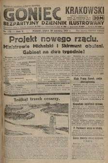 Goniec Krakowski : bezpartyjny dziennik popularny. 1922, nr175