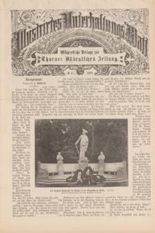 Illustrirtes Unterhaltungs-Blatt : Wöchentliche Beilage zur Thorner Ostdeutschen Zeitung. 1899, № 47 ([19 November])