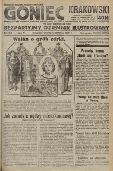 Goniec Krakowski : bezpartyjny dziennik popularny. 1922, nr214