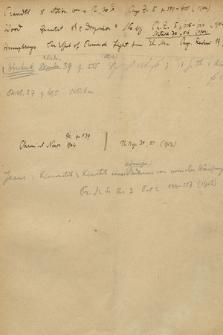 Notatki i wyciągi z dzieł naukowych robione w latach 1900-1916