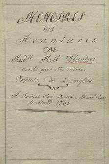 """""""Memoires et avantures de mad[emoise]lle Moll Flandres [!]"""""""