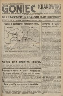 Goniec Krakowski : bezpartyjny dziennik popularny. 1922, nr227