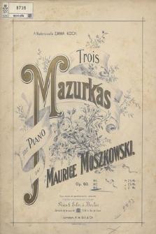 Trois mazurkas : pour piano. Op. 60 No. 3