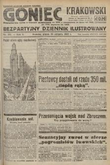 Goniec Krakowski : bezpartyjny dziennik popularny. 1922, nr231