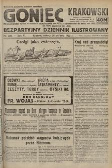 Goniec Krakowski : bezpartyjny dziennik popularny. 1922, nr232