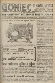 Goniec Krakowski : bezpartyjny dziennik popularny. 1922, nr234