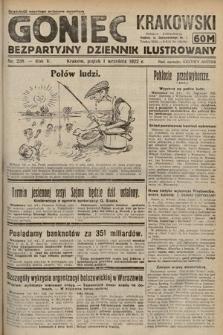 Goniec Krakowski : bezpartyjny dziennik popularny. 1922, nr238