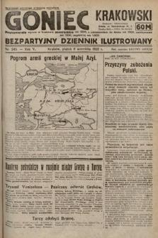 Goniec Krakowski : bezpartyjny dziennik popularny. 1922, nr245