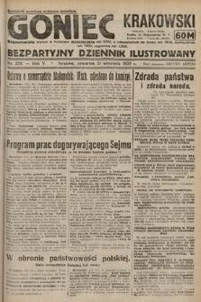 Goniec Krakowski : bezpartyjny dziennik popularny. 1922, nr258