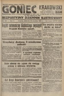 Goniec Krakowski : bezpartyjny dziennik popularny. 1922, nr262