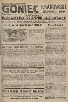 Goniec Krakowski : bezpartyjny dziennik popularny. 1922, nr263
