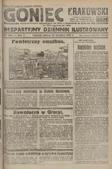 Goniec Krakowski : bezpartyjny dziennik popularny. 1922, nr268