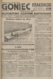 Goniec Krakowski : bezpartyjny dziennik popularny. 1922, nr274