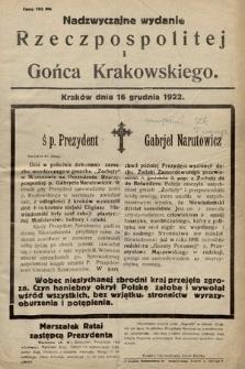 Goniec Krakowski : bezpartyjny dziennik popularny. 1922, nr277 (nadzwyczajne wydanie)
