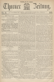 Thorner Zeitung. 1869, Nro. 21 (26 Januar)