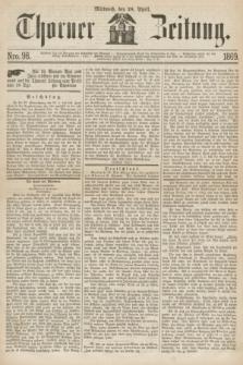 Thorner Zeitung. 1869, Nro. 98 (28 April)