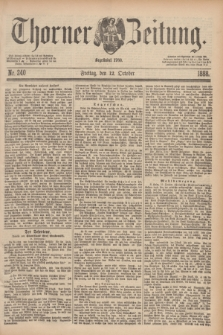 Thorner Zeitung : Begründet 1760. 1888, Nr. 240 (12 October)