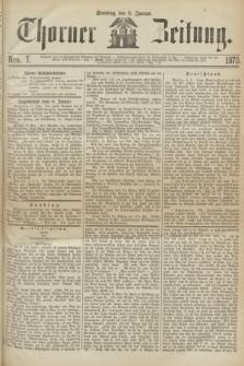 Thorner Zeitung. 1870, Nro. 7 (9 Januar)