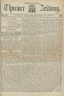 Thorner Zeitung. 1870, Nro. 14 (18 Januar)