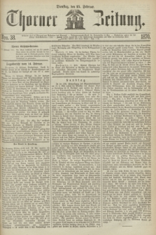 Thorner Zeitung. 1870, Nro. 38 (15 Februar)
