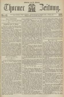 Thorner Zeitung. 1870, Nro. 43 (20 Februar)